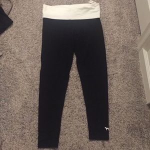 Pink Victoria's Secret foldover leggings small nwt